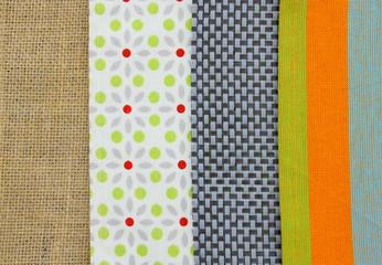différents matières de tissu: coton,synthétique