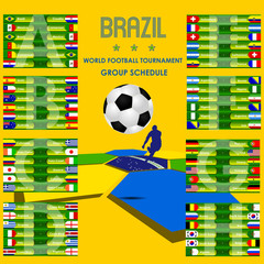World football tournament schedule Brazil