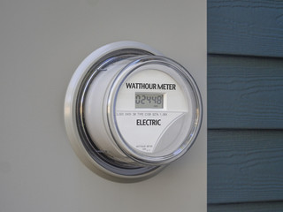 Digital residential power supply meter