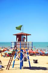 Vigilante de la playa, Andalucía, España