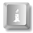 Candle. Vector computer key.