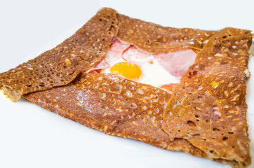 Homemade french buckwheat galette