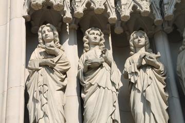 Figuren an der Marienkirche