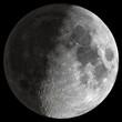 Leinwanddruck Bild - Half Moon with sharp details.