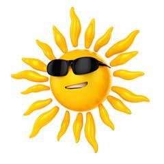 3d sun with sun glasses :)