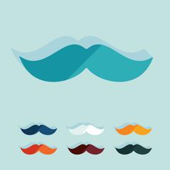 Flat design: mustache