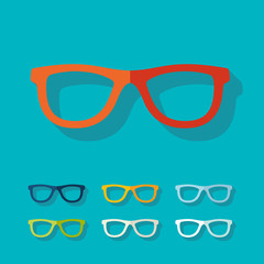 Flat design: glasses