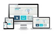 Awesome responsive web design development coding vector concept