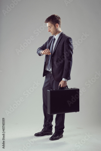 Elegant businessman waiting