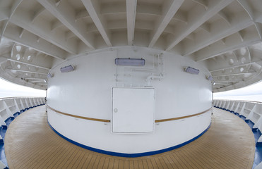 Fish Eye View of a Ship Deck