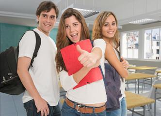 Happy friendly students