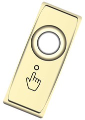 Button modern brass bell