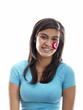 girl with turkish flag face paint