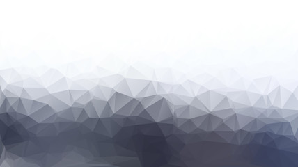 White and gray abstract polygon triangle background