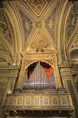 antique old italian church organ