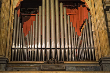 antique old italian church organ