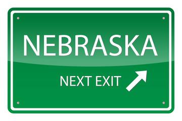 Green road sign, vector - Nebraska