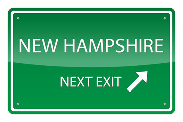 Green road sign, vector - New Hampshire