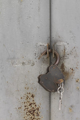 lock on the white background
