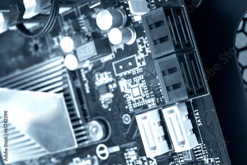 Printed computer motherboard with SATA Ports - 65762394