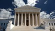 United States Supreme Court with Churning Clouds
