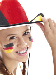 girl with german flag face paint