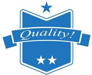 Blue Quality Sticker