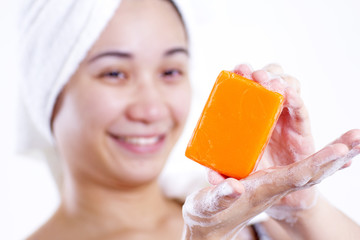 Lady With Soap Bar
