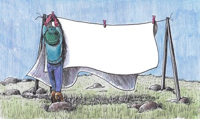 Writing for washing line
