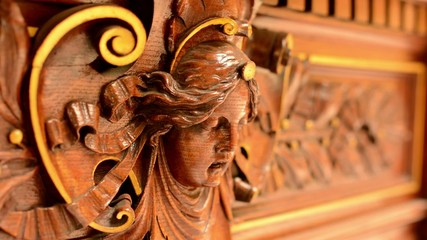 wooden decoration - interior - portrait