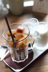 ice latte coffe