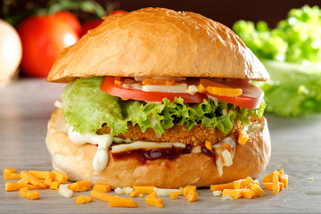 BIG crispy Chicken Burger