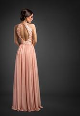 Elegant fashion  lady in evening dress