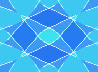 Abstract blue diamond pattern