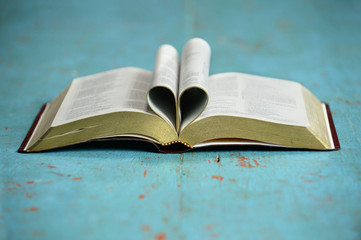 Heart Formed by Open Bible