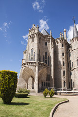 Views of Episcopal palace in Astorga, crossing point for pilgrim