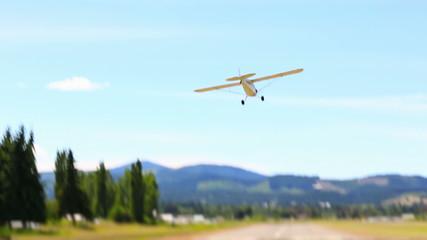 Airplane Landing Tilt Shift