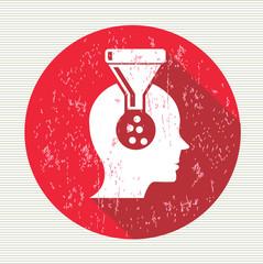 Brain filter symbol,vector
