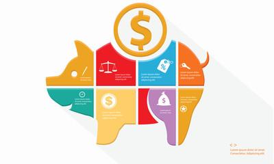 Finance Infographics design,vector