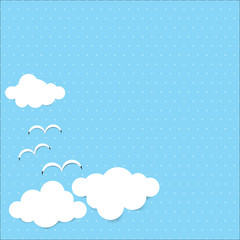Dot background blue sky