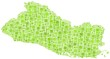 Republic of El Salvador in a mosaic of green squares
