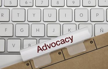 Advocacy. Keyboard