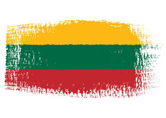 brushstroke flag Lithuania