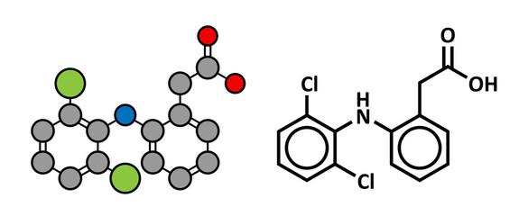 Diclofenac pain and inflammation drug (NSAID)