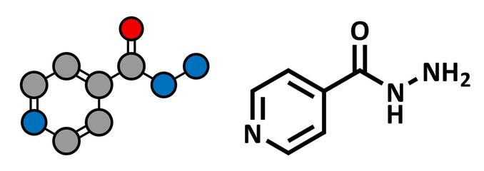 Isoniazid (isonicotinylhydrazine, INH) tuberculosis antibiotic