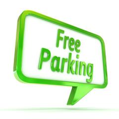 """Speech Bubble """"Free Parking"""""""