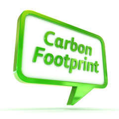 Speech Bubble Carbon Footprint