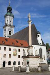 Freising - Marienplatz mit St. Georg