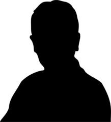 Silhouette junger Mann