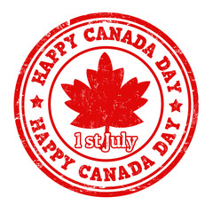 Happy Canada day stamp